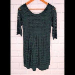 Eight Sixty forest green knit dress